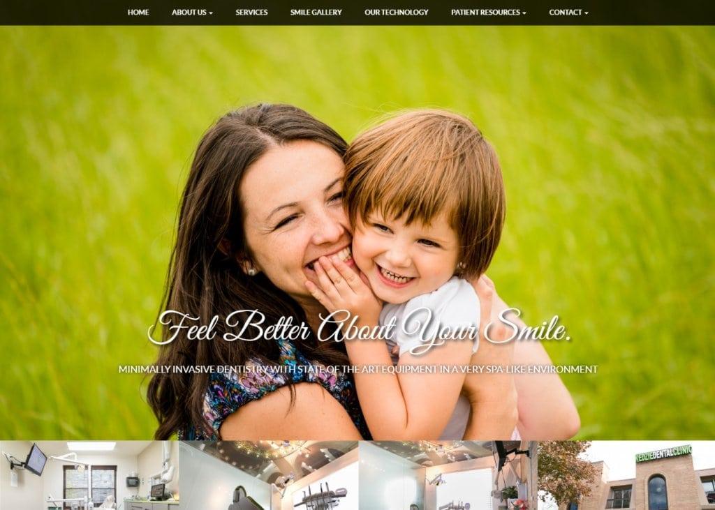 kedziedentalchicago.com - screenshot showing homepage of Kedzie Dental Clinic, Khairunnisa Shaikh, DDS - Chicago, IL website