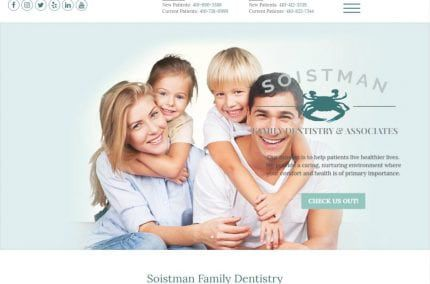 soistmanfamilydentistry.com screenshot showing website of Soistman Family Dentistry & Associates - Centreville, Easton, MD