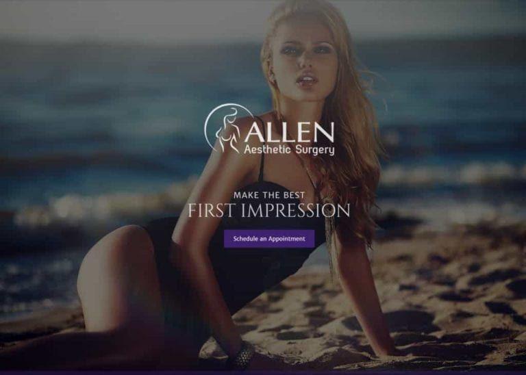 Allen Aesthetics Website Screenshot