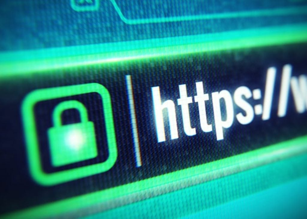 Https and green lock from the browser address box