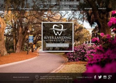 River Landing Dentistry Website Screenshot