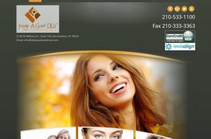 Citybasedentalcare.com - Screenshot showing homepage of City Base Dental Care, Dr. Jorge Guel -San Antonio, TX website