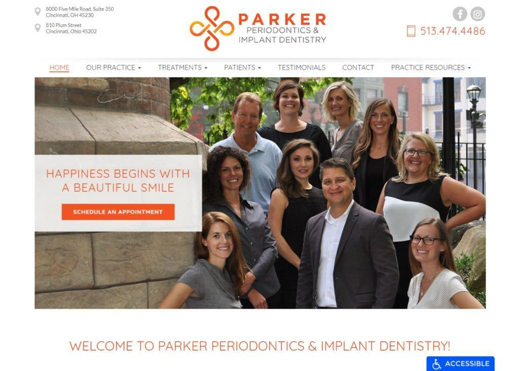 Parker Periodontics & Implant Dentistry Website Designed by O360