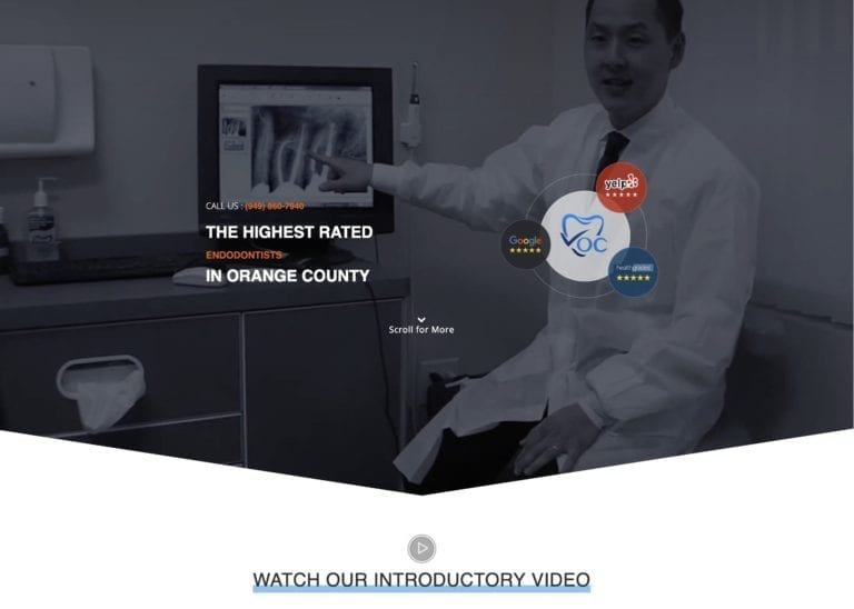 Dr. Jason Cho Endodontist Website Screenshot