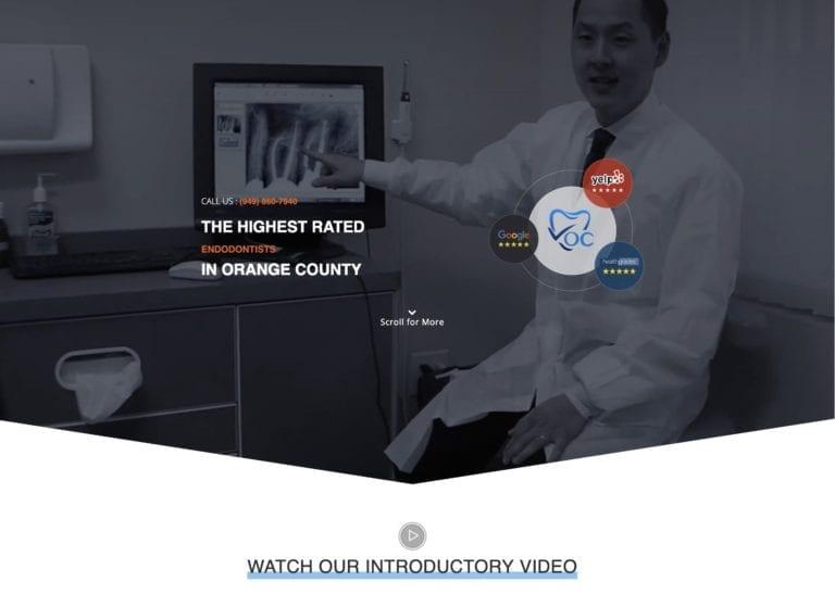 Dr. Jason Cho Endodontist Website Screenshot