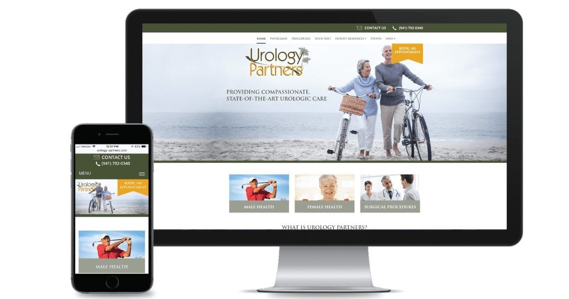 Mobile responsive doctor website and desktop