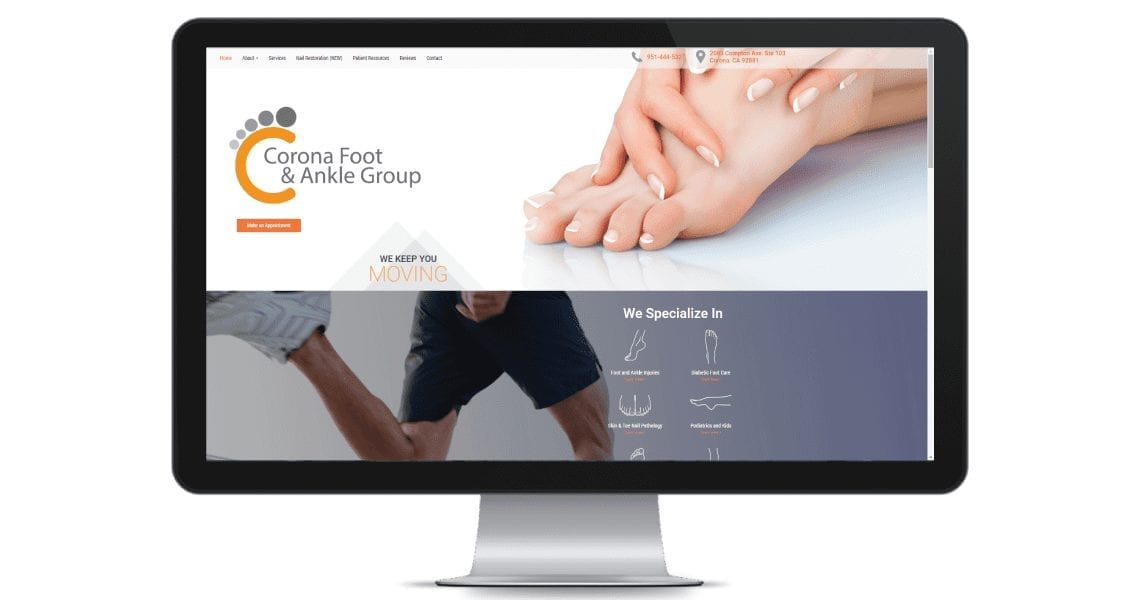 Modern physician websites need rich graphics and content