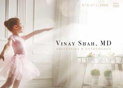 Vinay Shah MD Website Screenshot