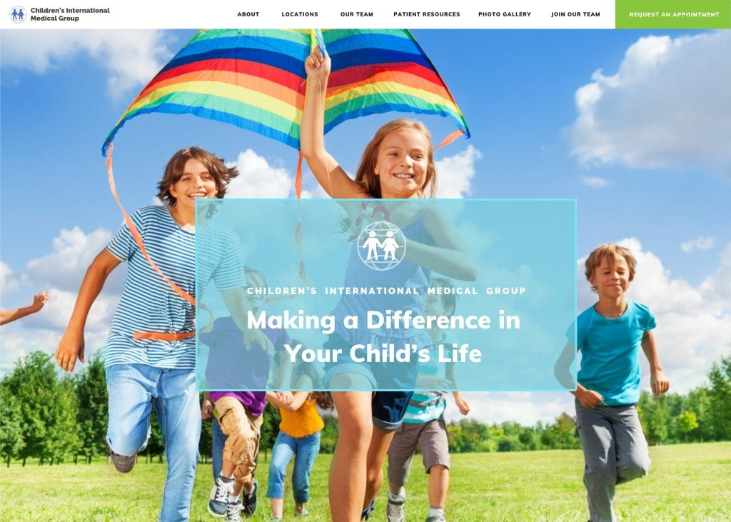childrens-international-medical-group-website-screenshot