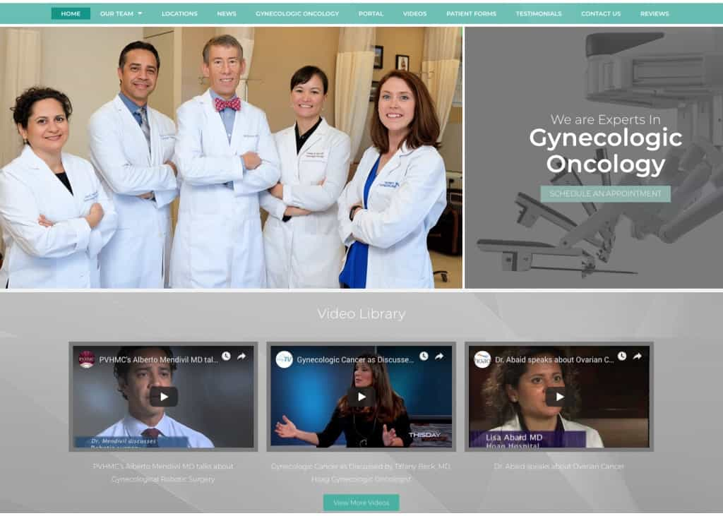 Gynecology Group Website Screenshot