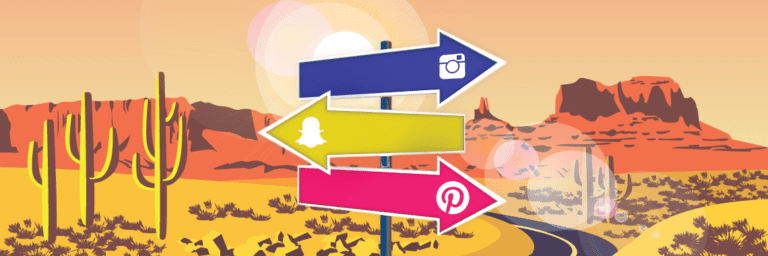 Instagram, Snapchat and Pinterest