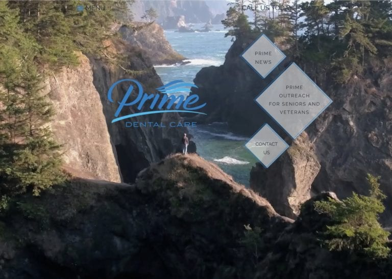 dental website example on the mountain and ocean