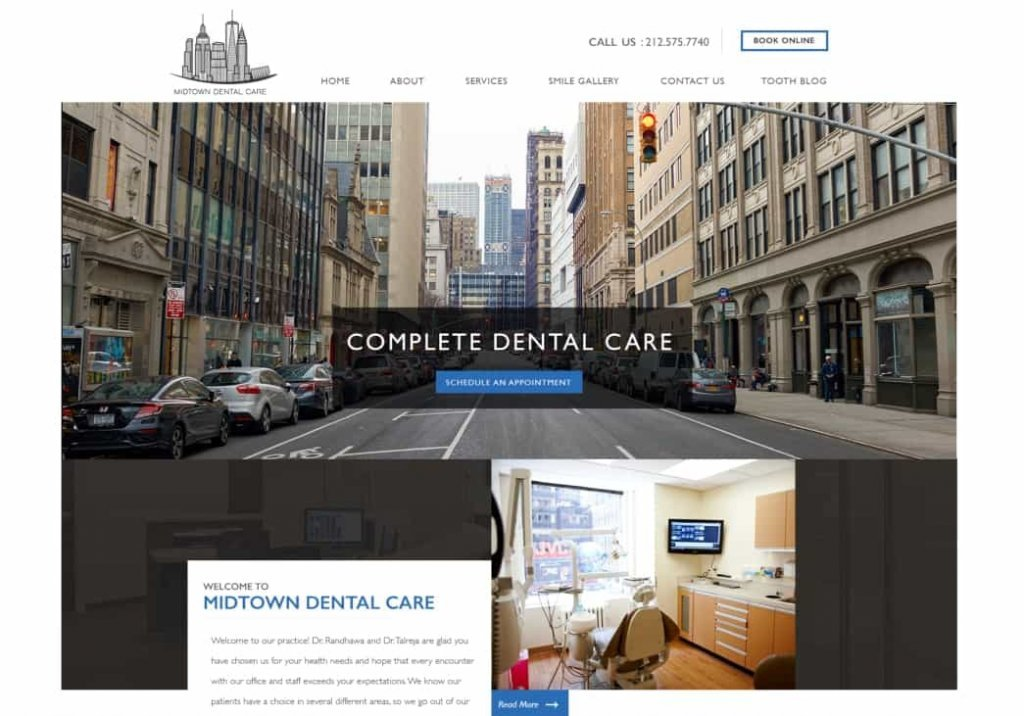 Midtown Dental Care Website Screenshot