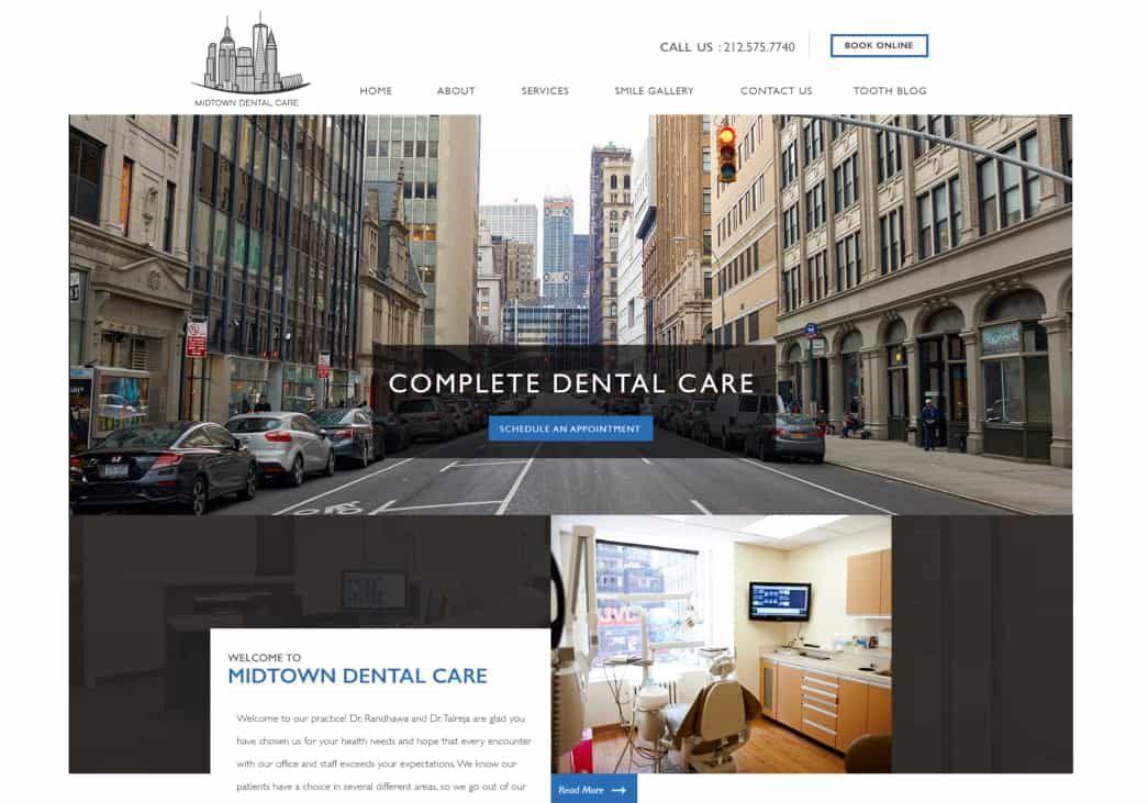 Midtown Dental Care Website Screenshot