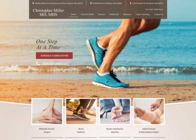 Christopher Miller MD Website Screenshot