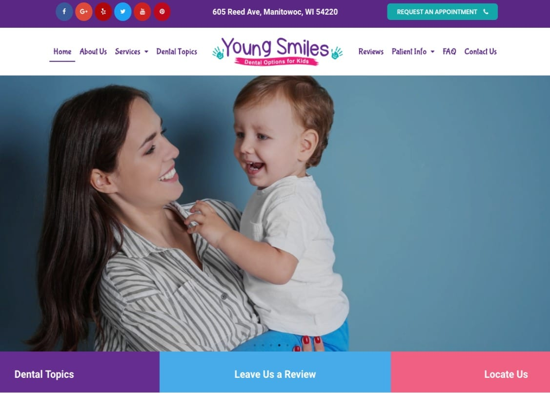 Young Smiles Website Image