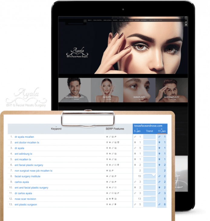 O360 SEO client example of Ayala Cosmetic Website