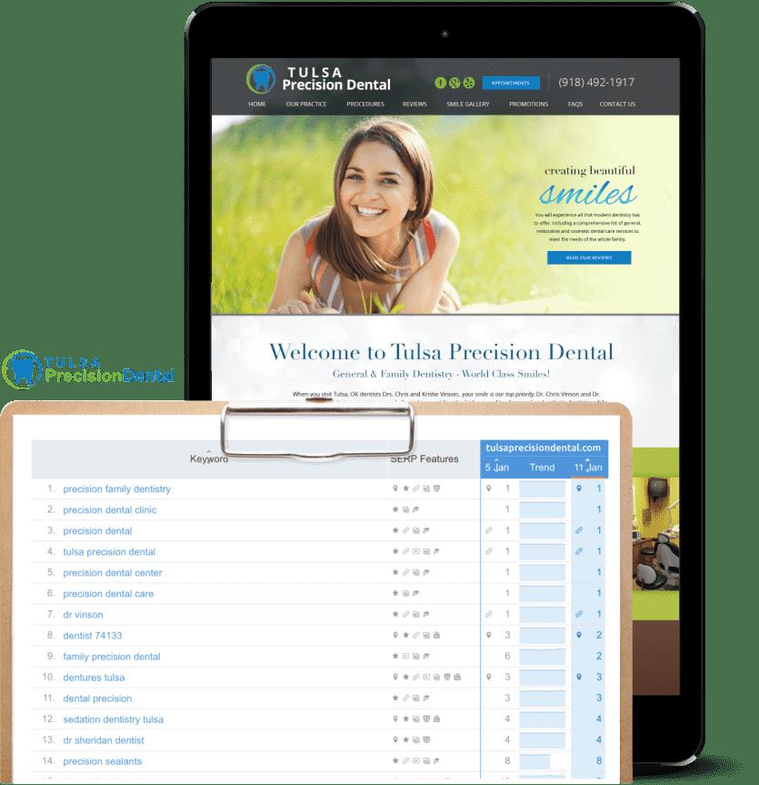 SEO case study example of dental center website