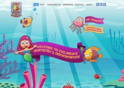 Website Screenshot Children's Dentistry & Ortho in Murfreesboro
