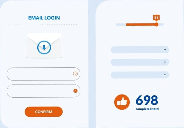 Email Login Screen Sample