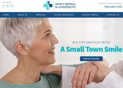 Impact Medical and Chiro Website Image