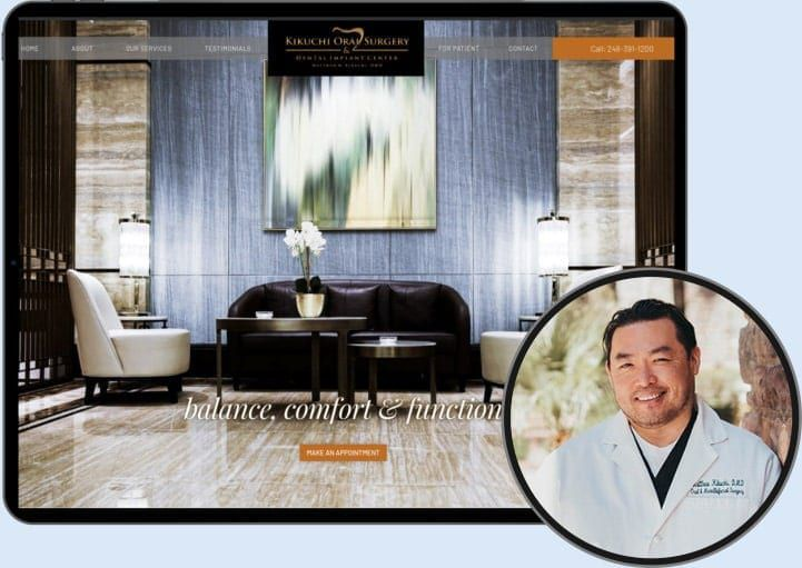 Kikuchi Oral Surgery - Dr. Matthew Kikuchi Dr. Niloo - Oakton Smiles Website o360 client website example testimonial and review