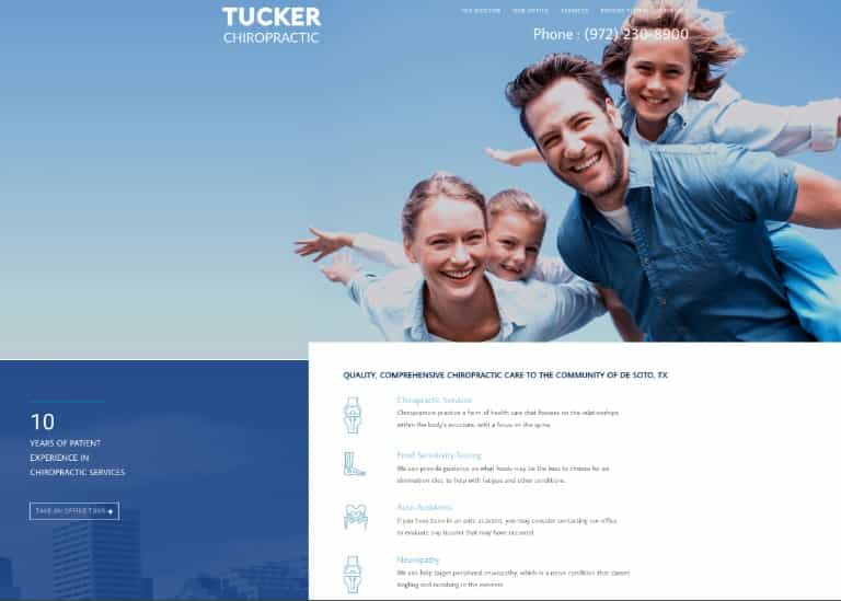 Tucker Chiropractic Website Image