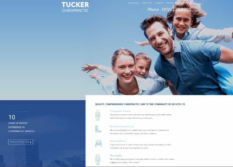 Tucker Chiropractic Website Image