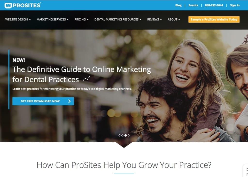 Screenshot of Prosites website front page
