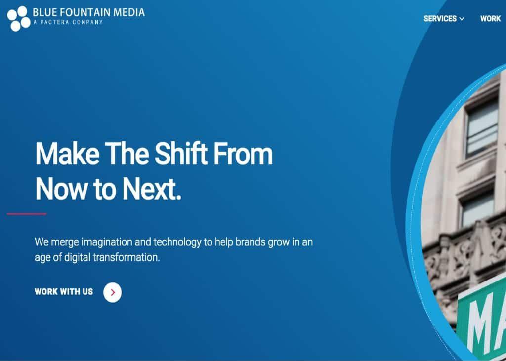 Screenshot of Blue Foundation Media website front page