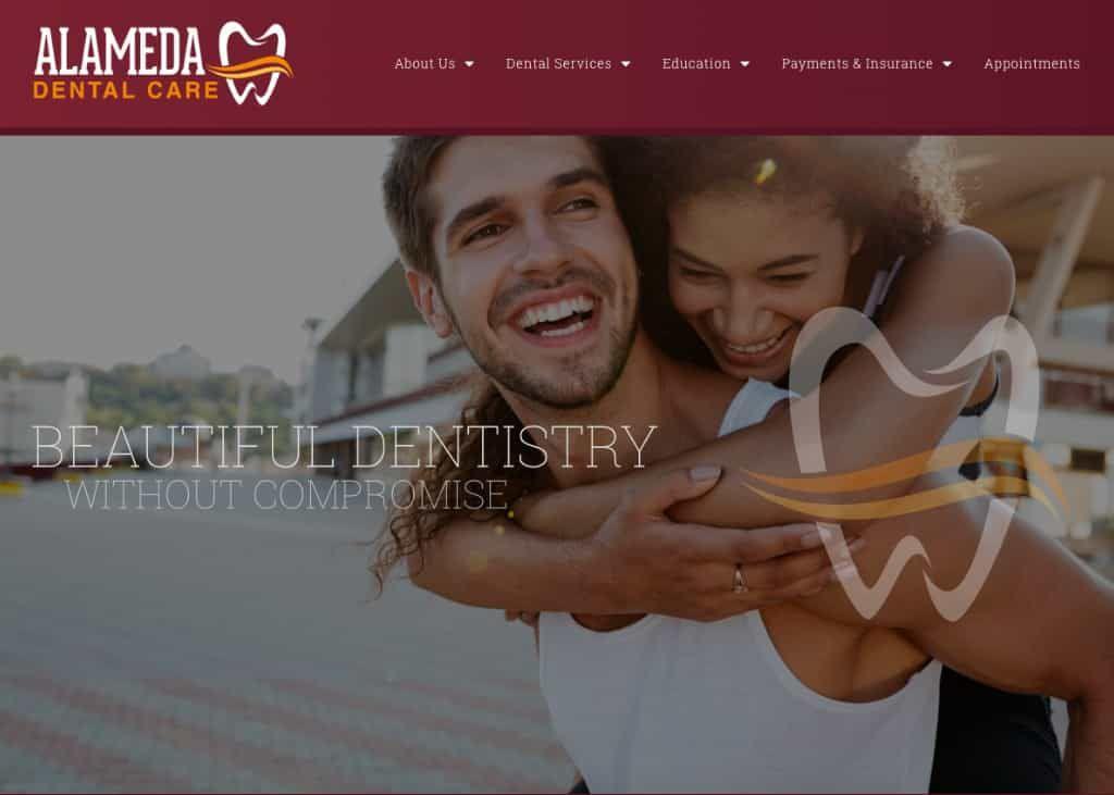 Alameda Dental Care Website Screenshot