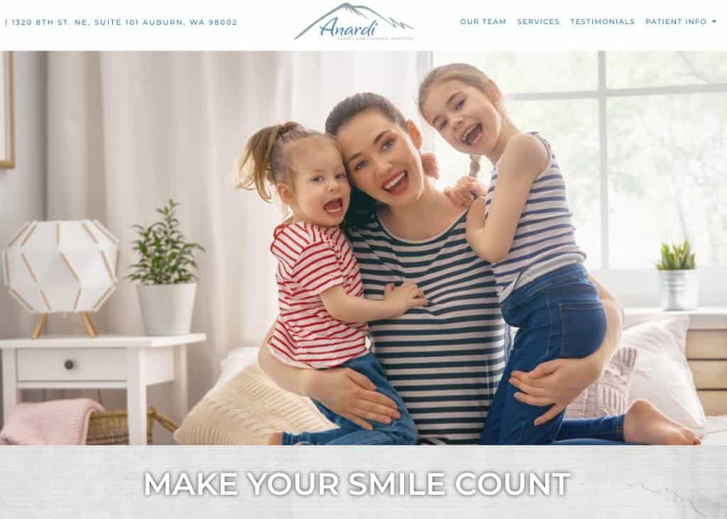 Anardi Family & Cosmetic Website Image
