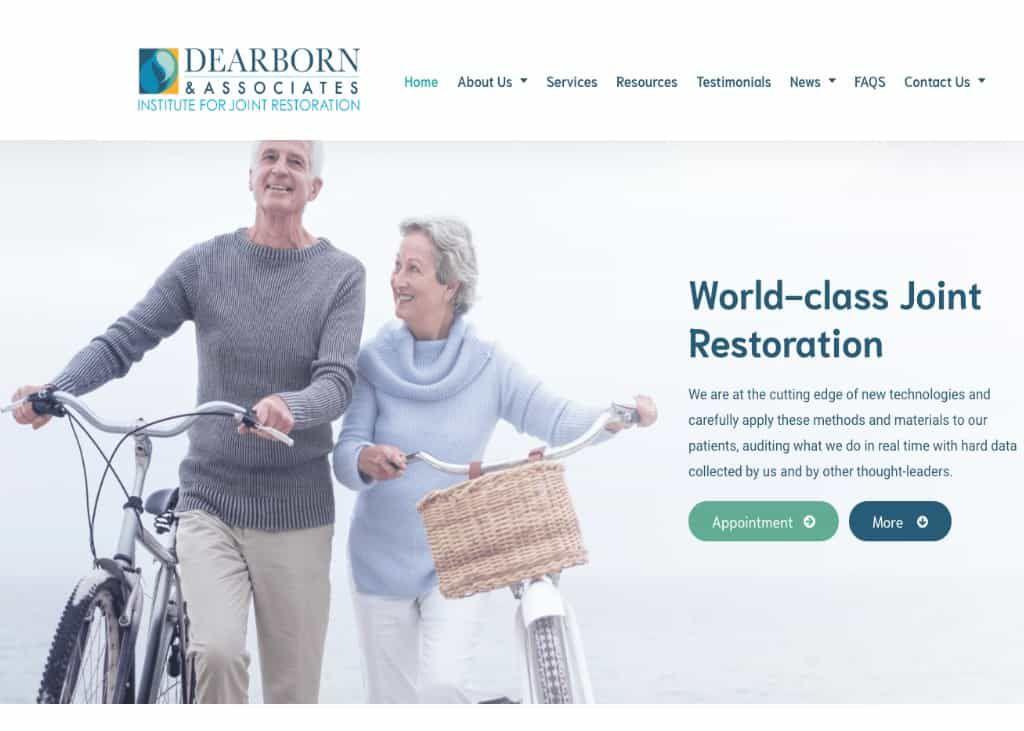 Dearburn & Associates Website Screenshot