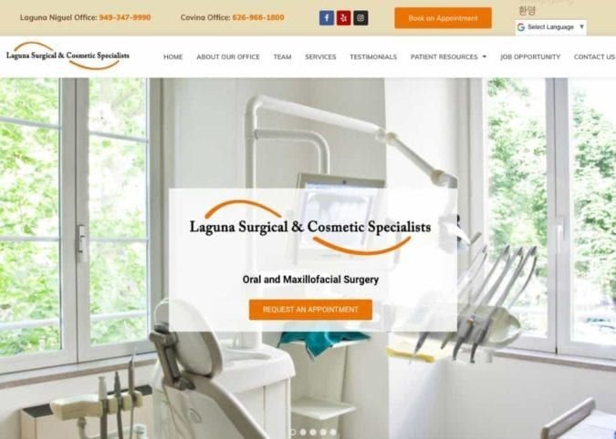Laguna Surgical And Cosmetic Specialists Website Image