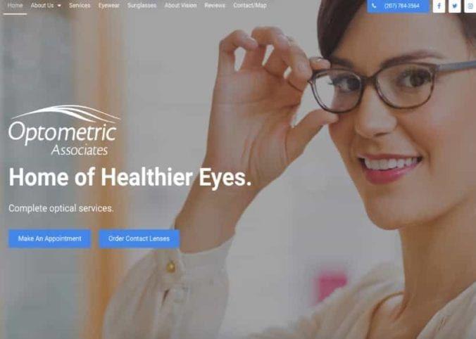 Optometric Associates Website Screenshot