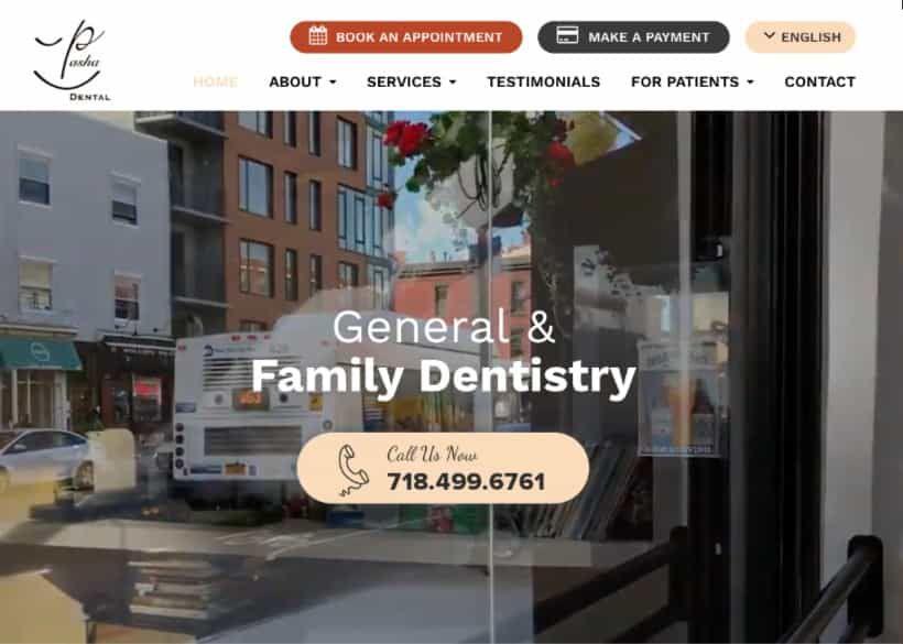Pasha Dental Website Screenshot