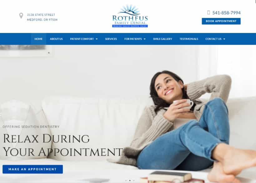 Rothfus Family Dental Website Screenshot