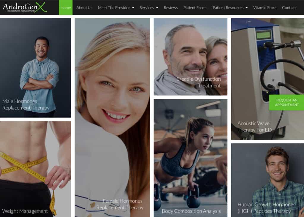 Androgren X Website Screenshot