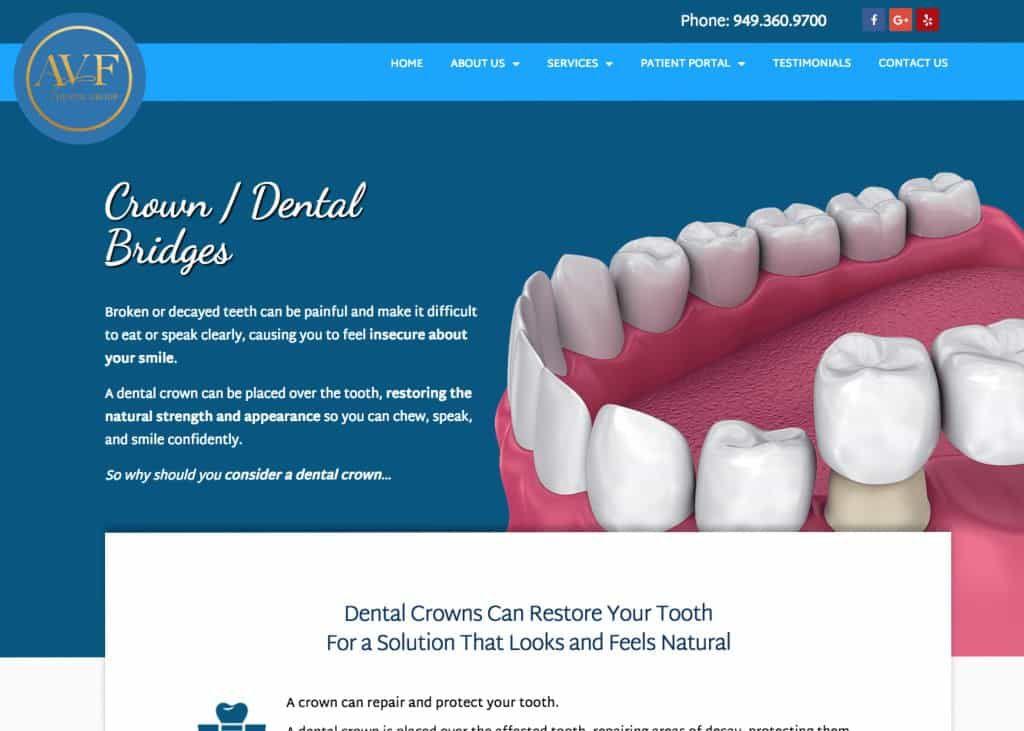 AVF Website Screenshot