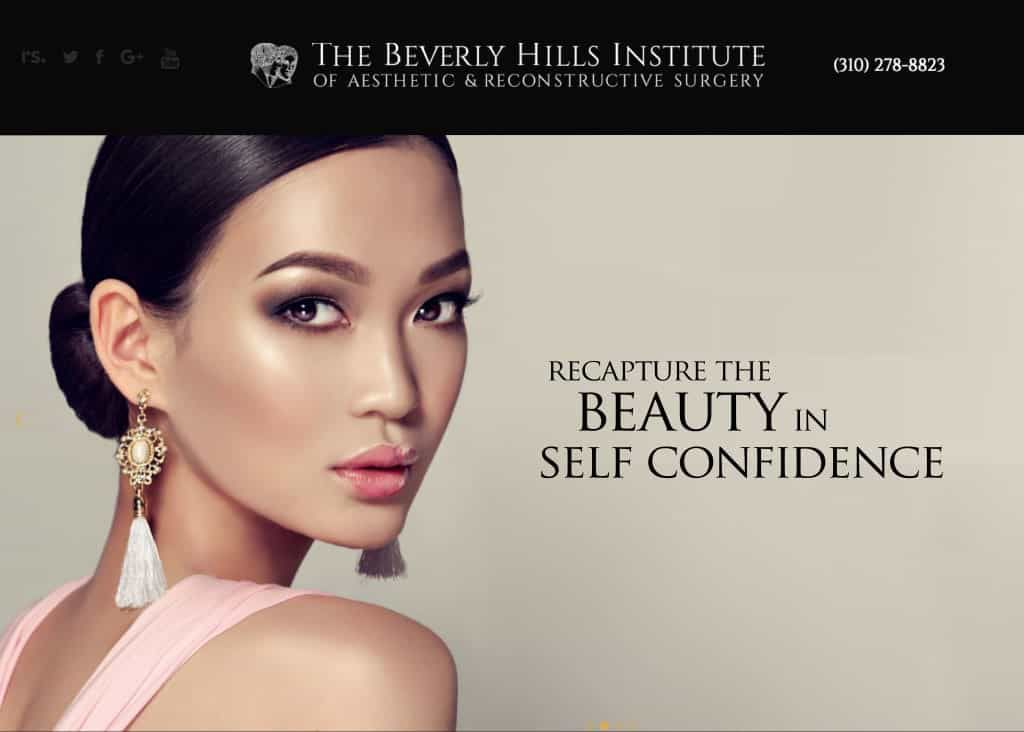 Beverly Hills Institute of Aesthetic and Reconstructive Surgery Website Screenshot