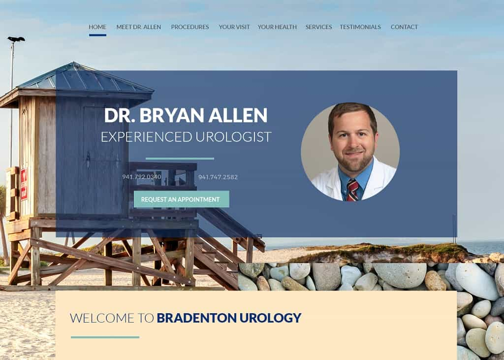 Brian Allen MD Website Screenshot