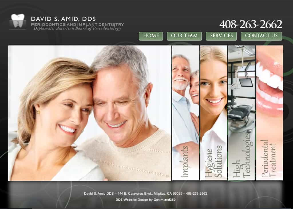 David Amid DDS Website Screenshot