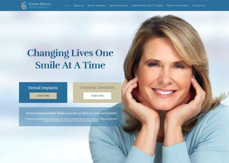Gasser Dental Website Screenshot