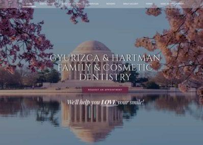 Gyurizca & Hartman Dentistry Website Screenshot