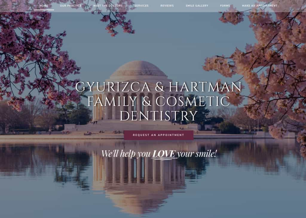 Gyurizca & Hartman Dentistry Website Screenshot