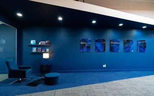 The blue area in the o360 office