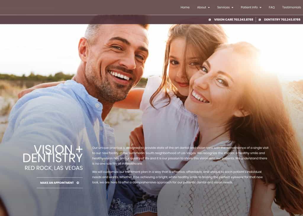 Redrock Dental Website Screenshot