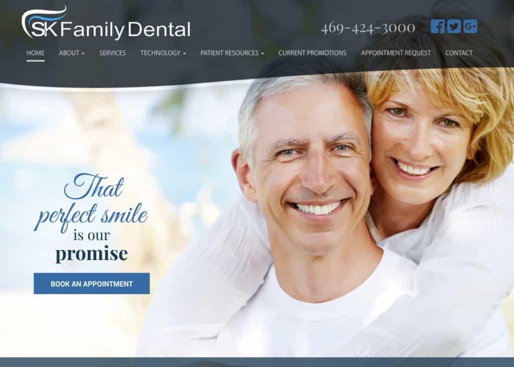 SK Family Dental Website Screenshot