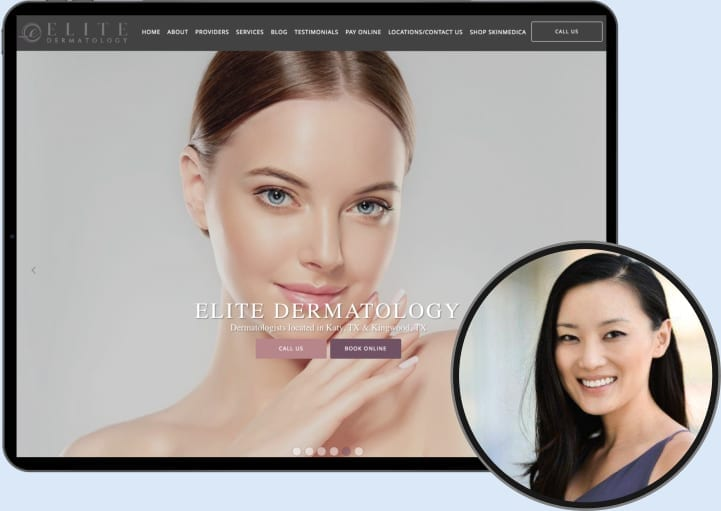 Elite Dermatology Website and Dr. Connie Wang