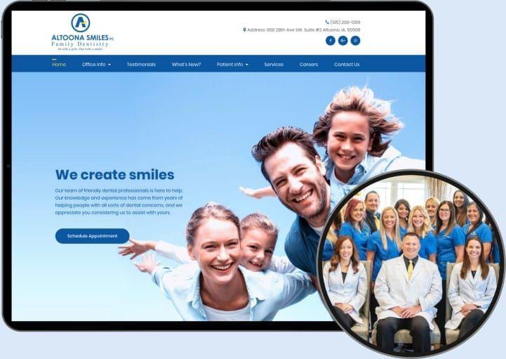 Altoona Smiles Website & Staff